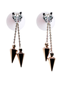 jaguar-post-with-white-ball-and-double-cone-spacer-earring